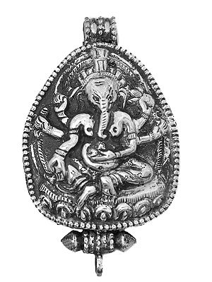 Lord Ganesha Gau Box Pendant  - Made in Nepal