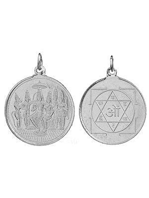 Shri Rama Pattabhishekam Pendant with Yantra on Reverse (Two Sided Pendant)