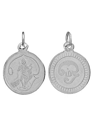 Karttikeya Pendant with Tamil OM (AUM) on Reverse (Two Sided Pendant)