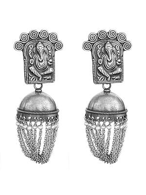 Lord Ganesha Shower Earrings