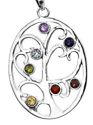 Colour Infusion Tree of Life Pendant