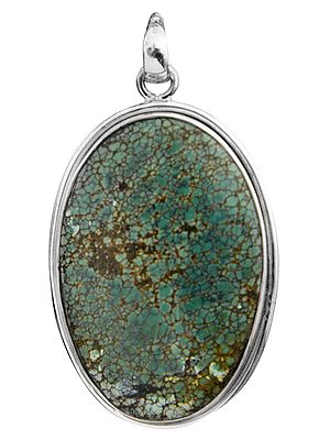 Oval Cabochon Turquoise Galaxy Pendant