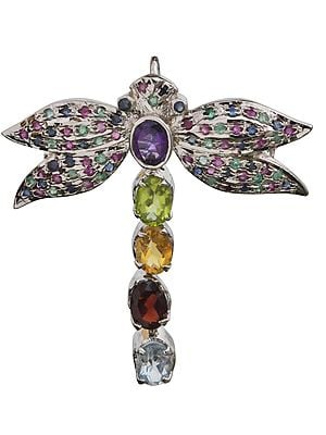 Winged Beauty Gems Profusion Brooch-cum-Pendant