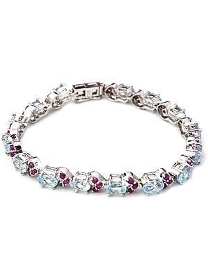 Clustered Rubies Bracelet