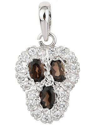 Faceted Gemstones and CZ Pendant