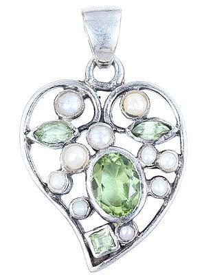 Faceted Opal Leaf Pendant
