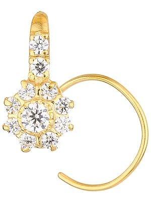 CZ Floral Nose Ring
