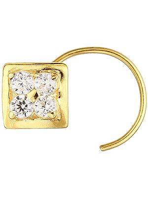 CZ Square Nose Ring