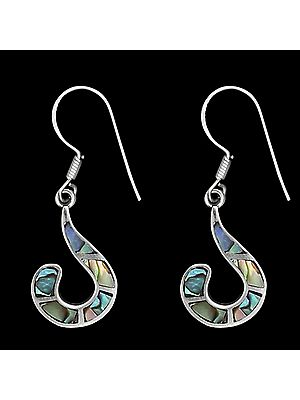 Stylish Sterling Silver Earrings with Mop
