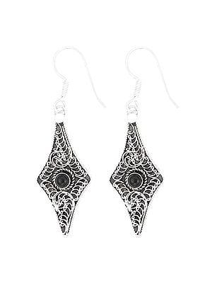 Stylish Sterling Silver Earrings Studded with Gemstone