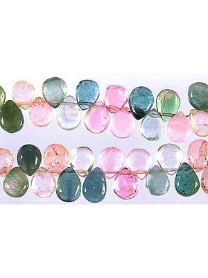 Multi-color Tourmaline Plain Briolette