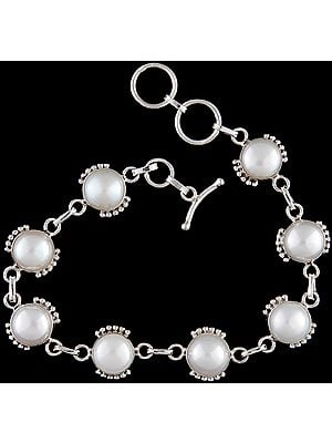 Pearl Bracelet with Attached Sterling Grains