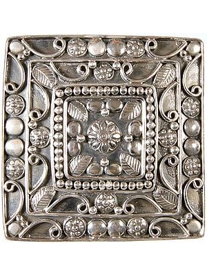 Sterling Buckle with Mandala Design