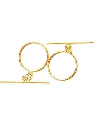 Sterling Gold Plated Toggle Lock (Price Per Piece)