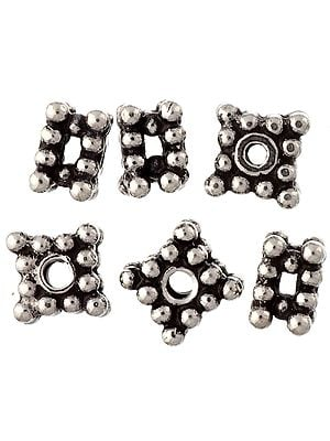 Sterling Square Beads (Price Per Six Pieces)
