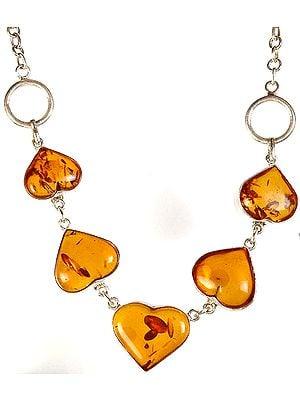 Amber Valentine Necklace