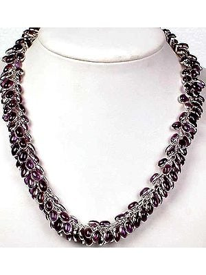 Amethyst Bunch Necklace