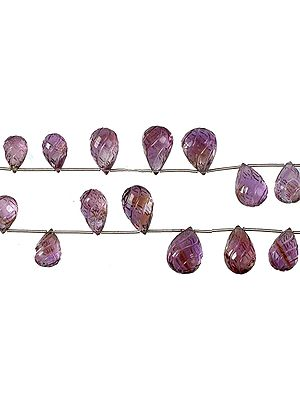 Amethyst Carved Drops
