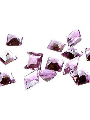 Amethyst mm Squares (Price Per Pair)