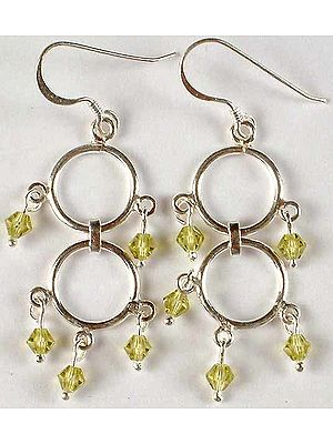 Australian Crystal Twin Hoop Earrings