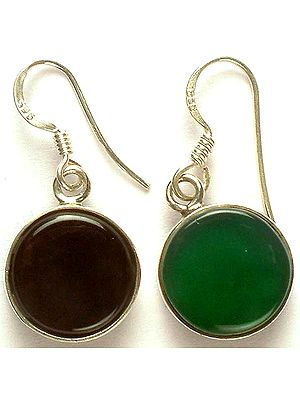 Black & Green Double-Sided Earrings