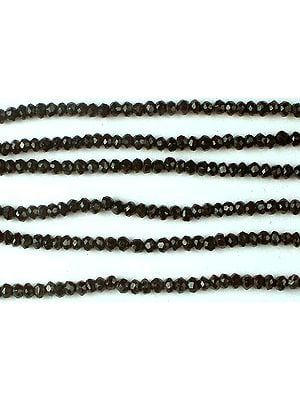 Black Onyx Faceted Rondells