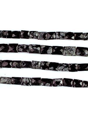 Black Snowflake Obsidian Faceted Chewing Gum