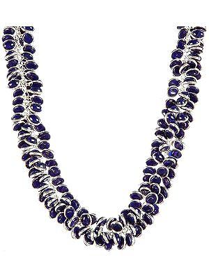 Lapis Bunch Necklace