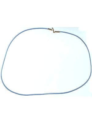Blue PVC Wire with Sterling Closure to Hang Your Pendant On