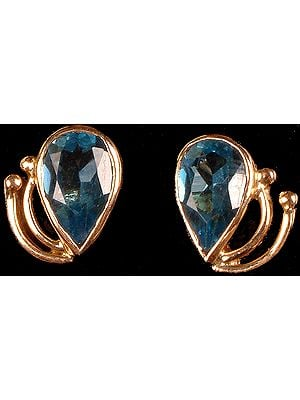 Blue Topaz Post Earrings