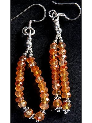 Carnelian Israel Cut Shower Earrings