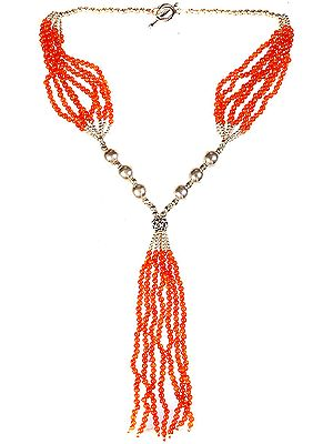 Carnelian Necklace with Charms