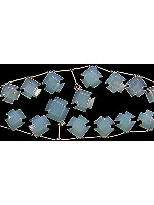 Carved Blue Chalcedony Shapes