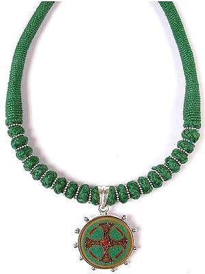 Celtic Cross Necklace with Matching Cord
