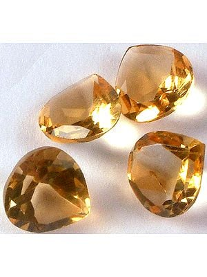 Citrine mm Heart Shapes (Price Per Pair)