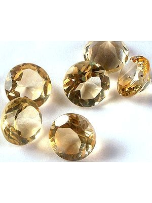 Citrine 8 mm Round (Price Per Pair)