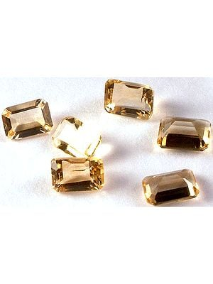 Citrine 7 x 5 mm Octagonal (Price Per Pair)
