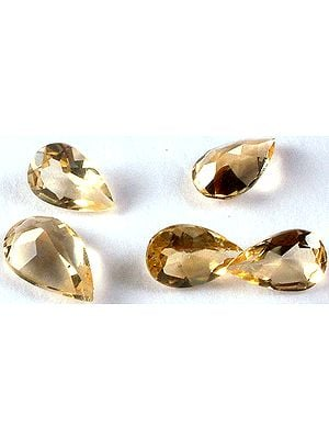 Citrine 10 x 7 mm Pears (Price Per 5 Pcs)