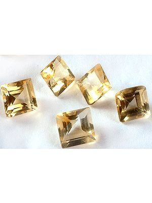 Citrine 5 x 5 mm Squares (Price Per 10 Pieces)