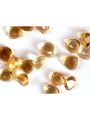 Citrine mm Heart Shapes (Price Per 5 Pieces)