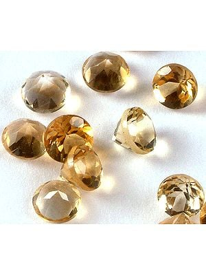 Citrine mm Size Rounds (Price Per Pair)