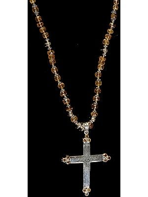 Citrine Cross Necklace
