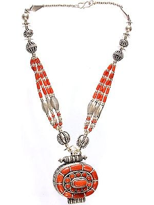 Coral Gau Beaded Necklace