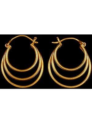 Designer Triple Hoop Earrings
