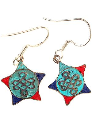 Endless Knot (Ashtamangala) Inlay Earrings