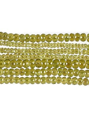 Faceted Afghani Peridot Rondells