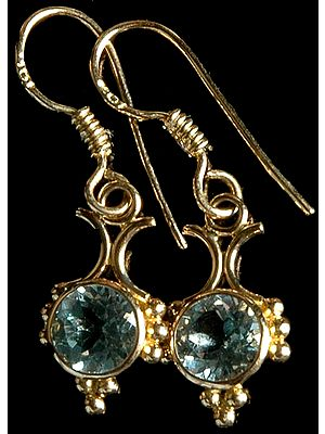 Faceted Aquamarine Earrings