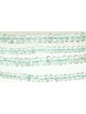 Faceted Aquamarine Rondells