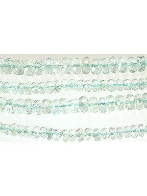 Faceted Aquamarine Rondells