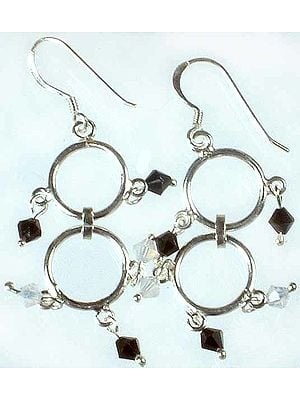 Faceted Australian Crystal Hoop Earrings